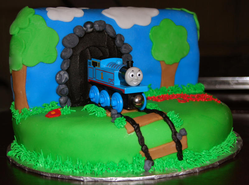 A birthday cake for a Thomas fan Kids in the Capital